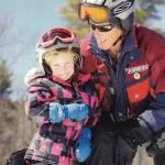John Estes w great grandaughter skiing_2015