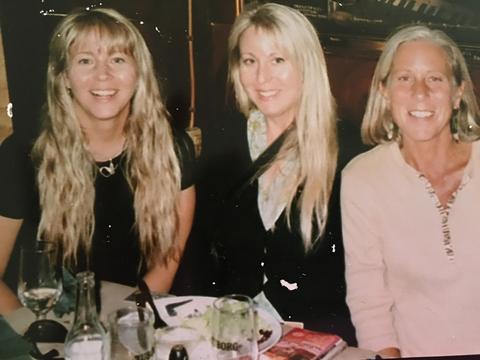 Kim Lammertin with sisters Stephanie and Dana.